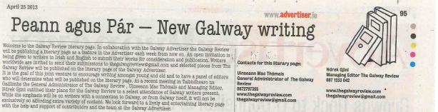 Galway Advertiser (Literary page)
