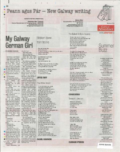 Peann agus Pár - New Galway writing 22 August 2013