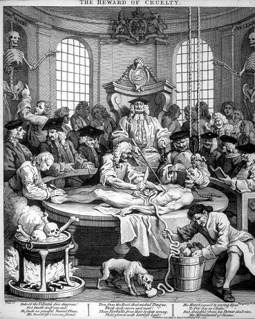 The reward of cruelty by William Hogarth