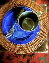 Fork and Plate and Cup